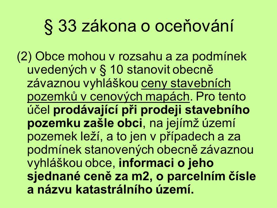 § 33 zákona o oceňování