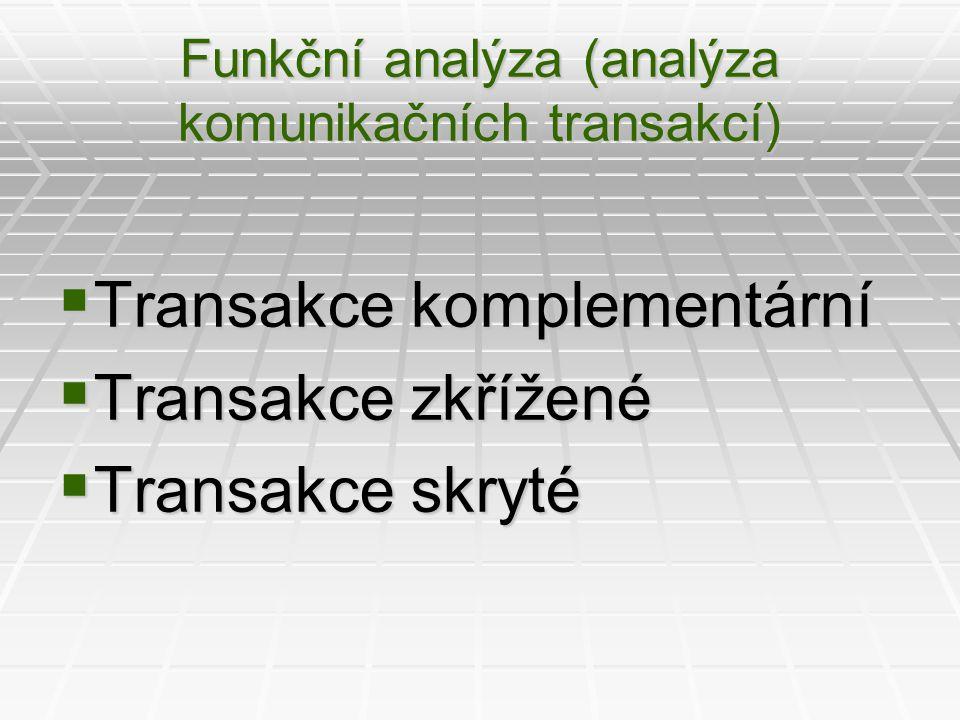 Funkční analýza (analýza komunikačních transakcí)