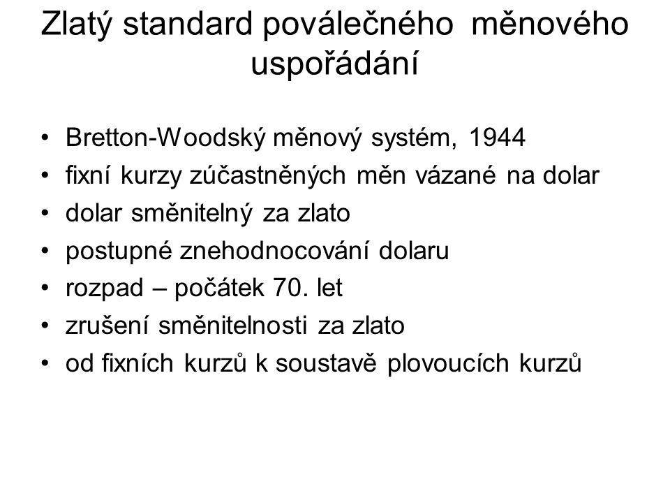 Zlatý standard poválečného měnového uspořádání