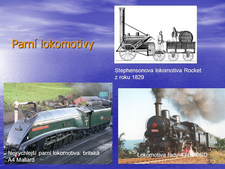 Parní lokomotivy Stephensonova lokomotiva Rocket z roku 1829