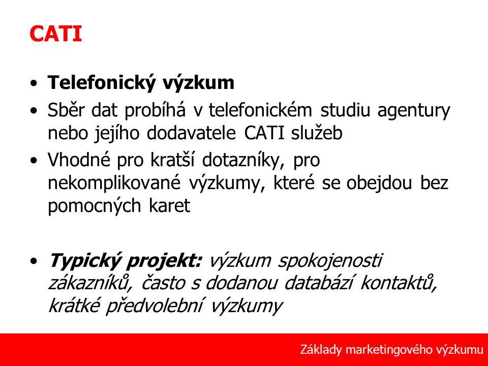 CATI Telefonický výzkum