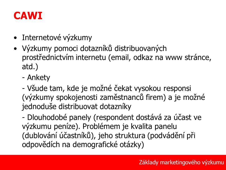 CAWI Internetové výzkumy