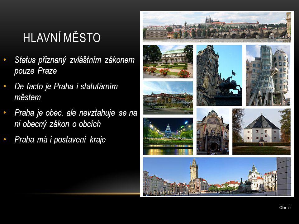 Hlavní město Status přiznaný zvláštním zákonem pouze Praze
