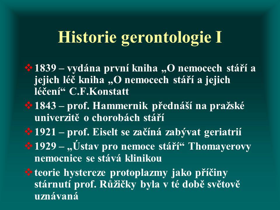 Historie gerontologie I
