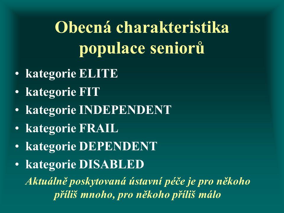 Obecná charakteristika populace seniorů