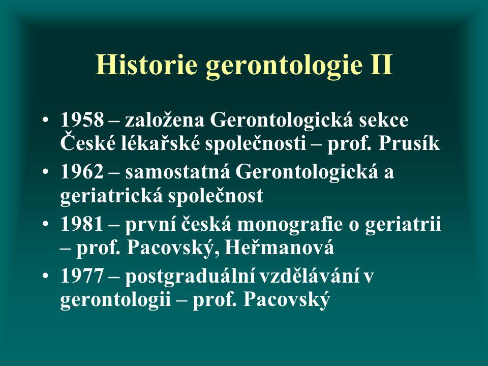 Historie gerontologie II