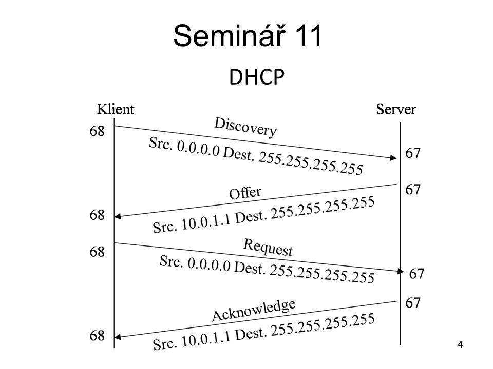 Seminář 11 DHCP 4 4 4 4