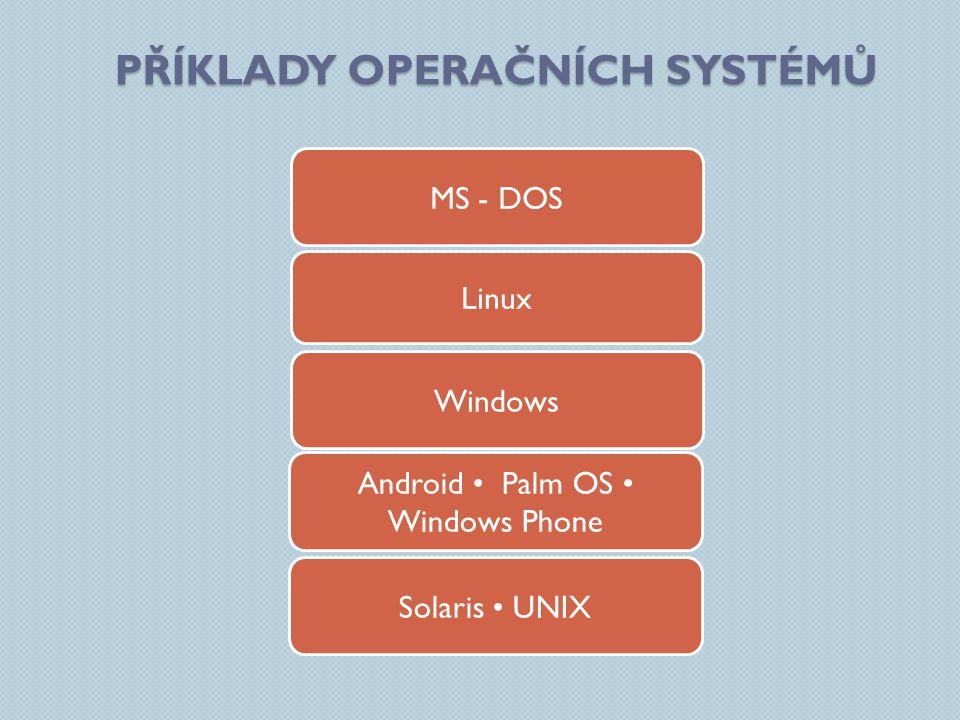 Příklady Operačních systémů