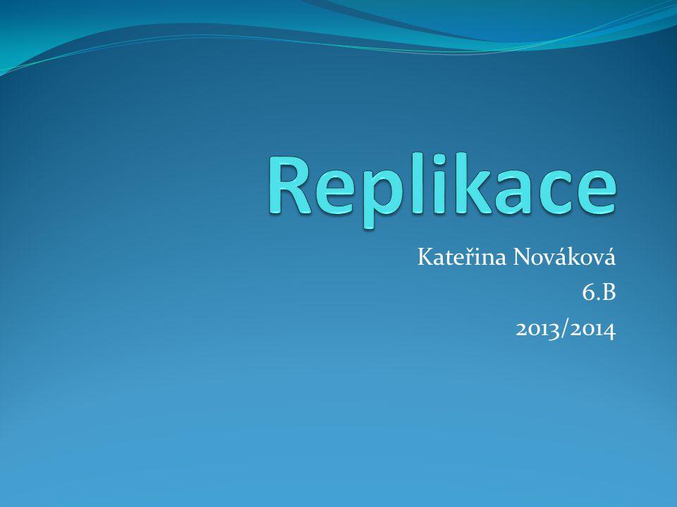 Replikace Kateřina Nováková 6.B 2013/2014