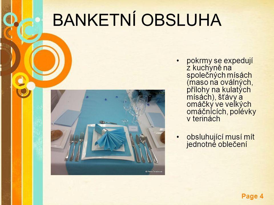 BANKETNÍ OBSLUHA