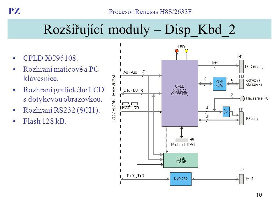 Rozšiřující moduly – Disp_Kbd_2