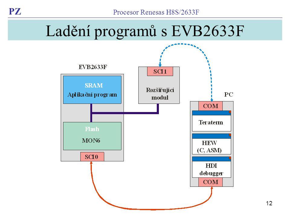 Ladění programů s EVB2633F