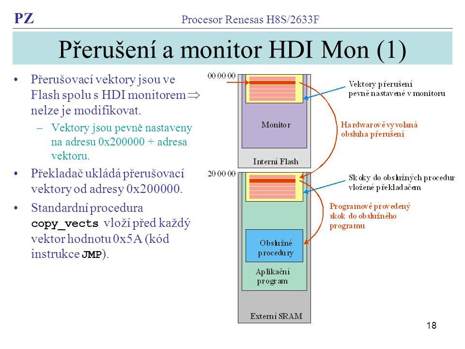 Přerušení a monitor HDI Mon (1)