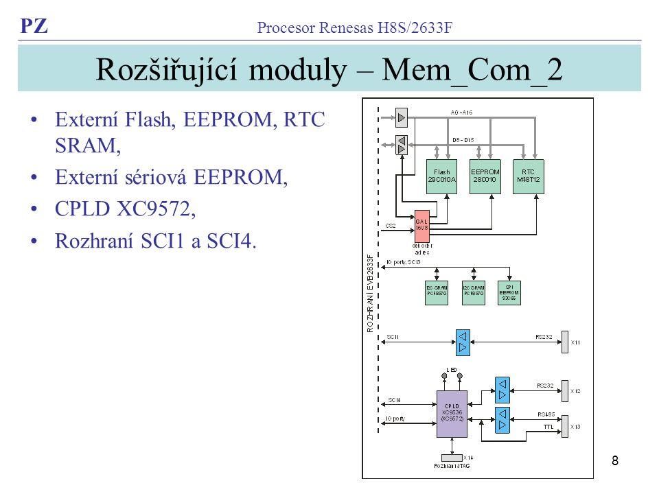 Rozšiřující moduly – Mem_Com_2