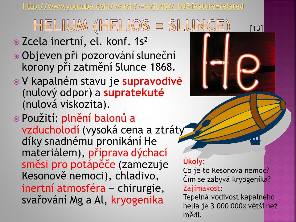 Helium (helios = Slunce)