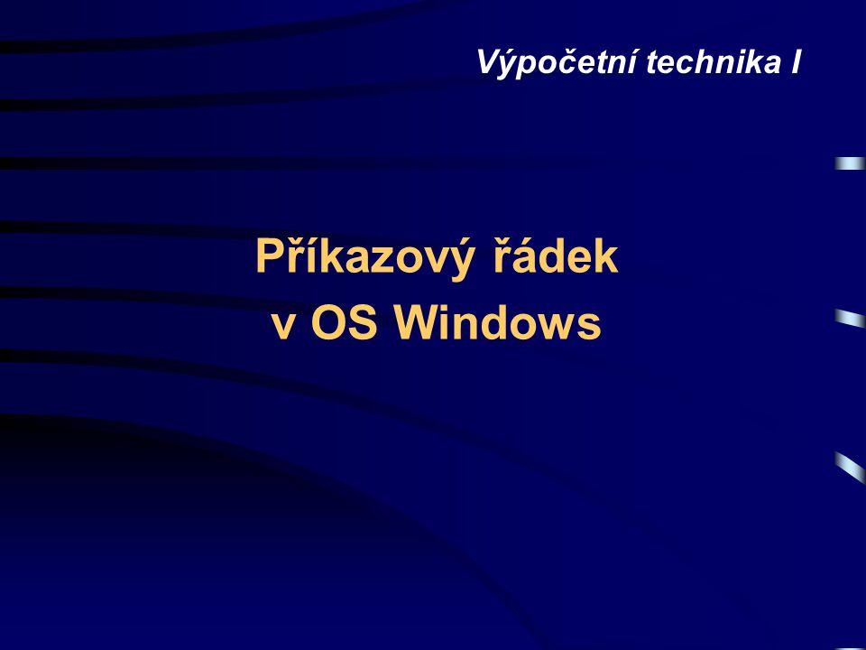 Příkazový řádek v OS Windows