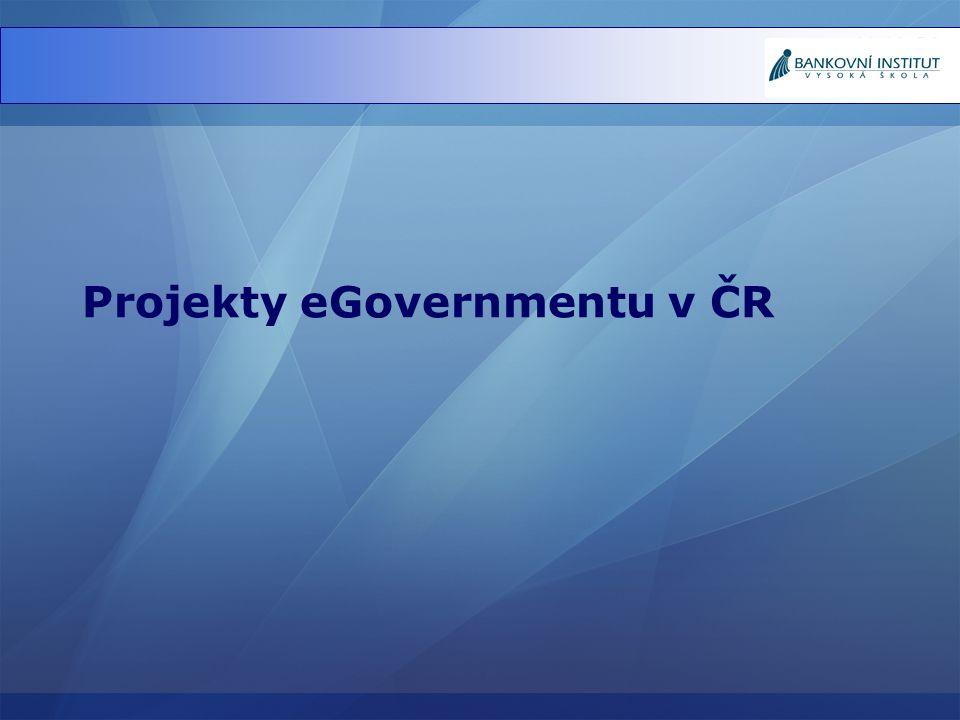 Projekty eGovernmentu v ČR
