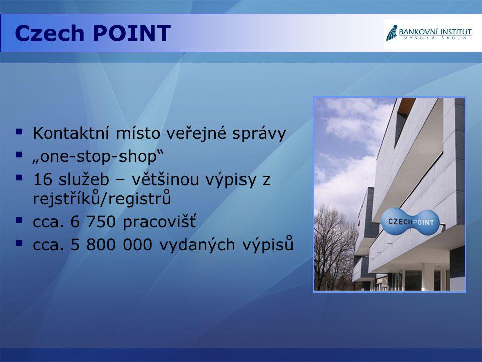 """Czech POINT Kontaktní místo veřejné správy """"one-stop-shop"""