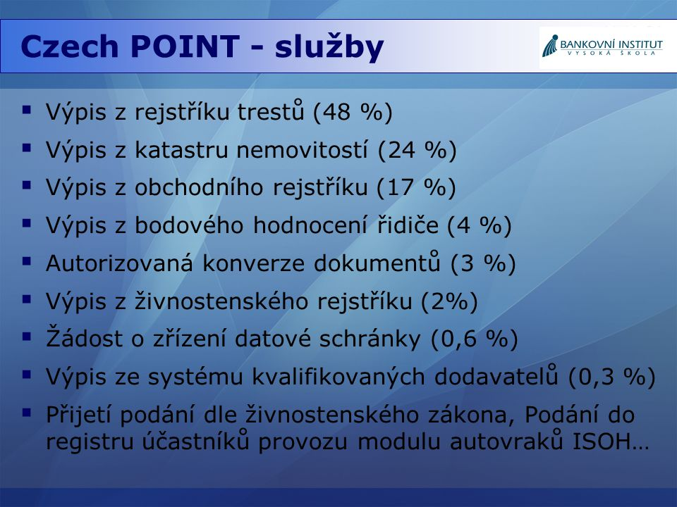 Czech POINT - služby Výpis z rejstříku trestů (48 %)