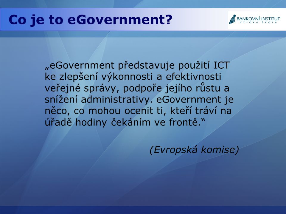 Co je to eGovernment
