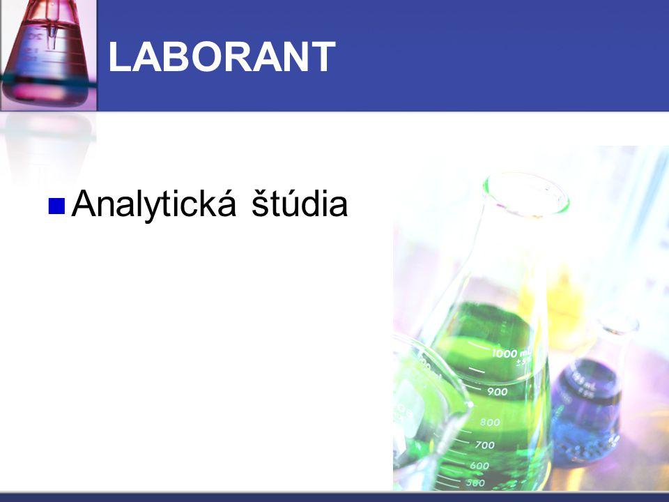 LABORANT Analytická štúdia