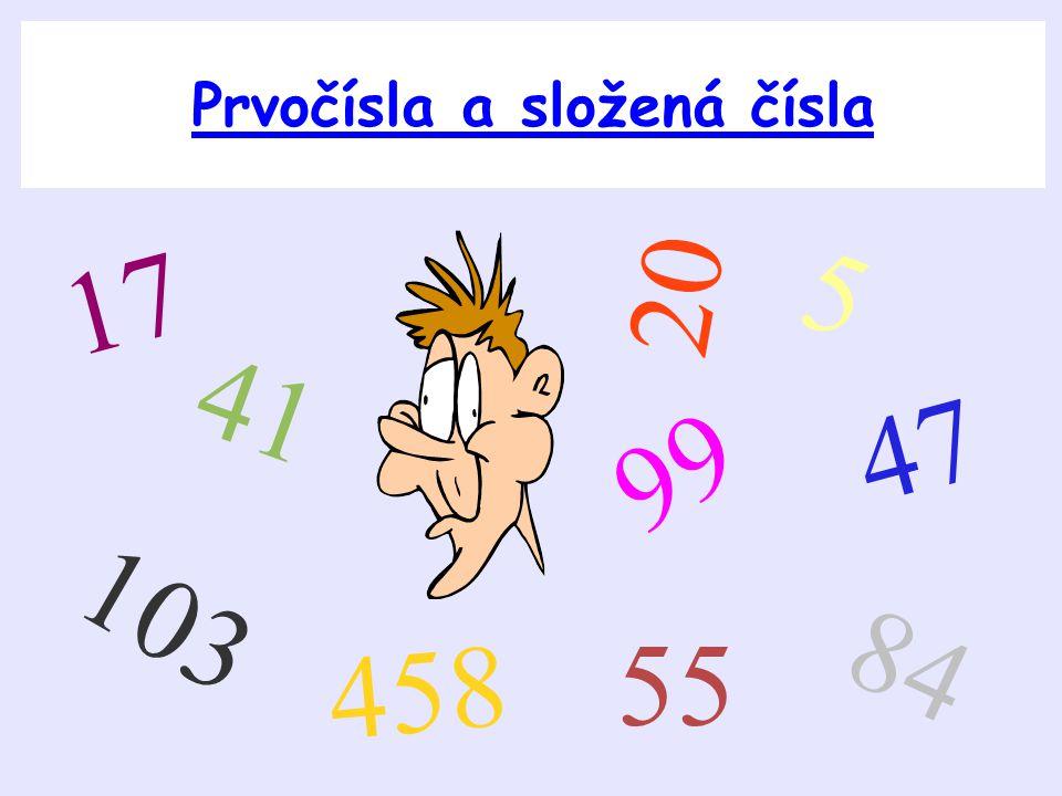 Prvočísla a složená čísla