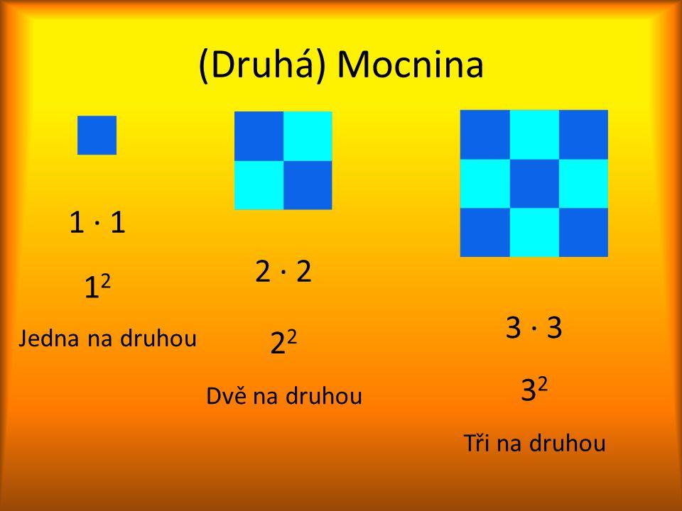 (Druhá) Mocnina 1 ∙ 1 2 ∙ 2 12 3 ∙ 3 22 32 Jedna na druhou