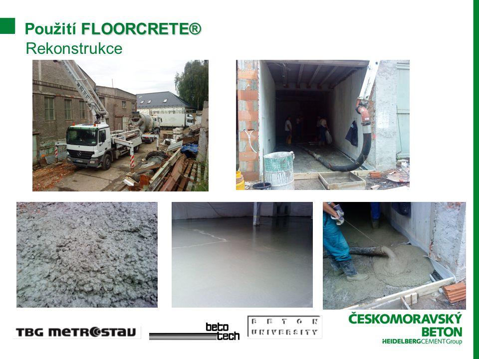 Použití FLOORCRETE® Rekonstrukce