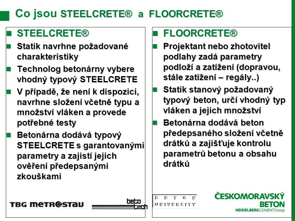 Co jsou STEELCRETE® a FLOORCRETE®