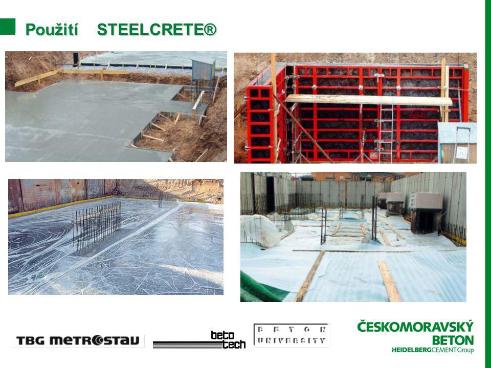Použití STEELCRETE®