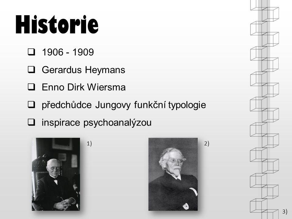 Historie 1906 - 1909 Gerardus Heymans Enno Dirk Wiersma