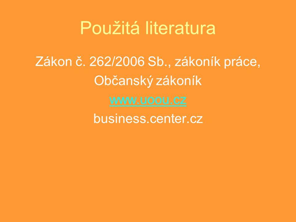 Zákon č. 262/2006 Sb., zákoník práce,