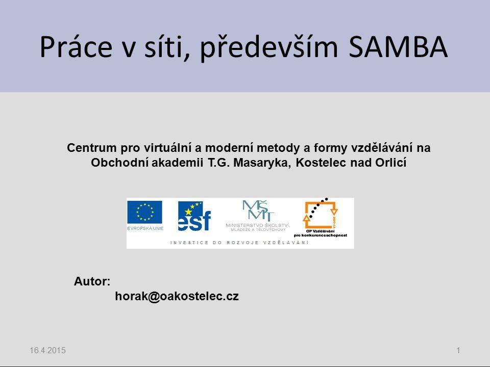 Práce v síti, především SAMBA