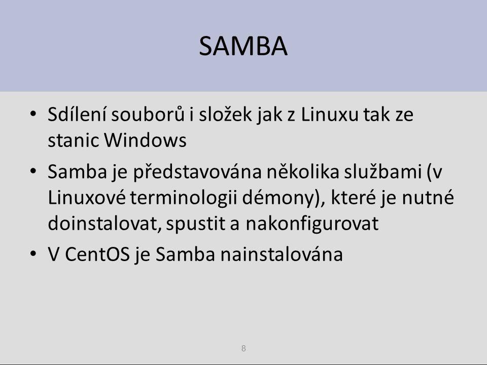 SAMBA Sdílení souborů i složek jak z Linuxu tak ze stanic Windows
