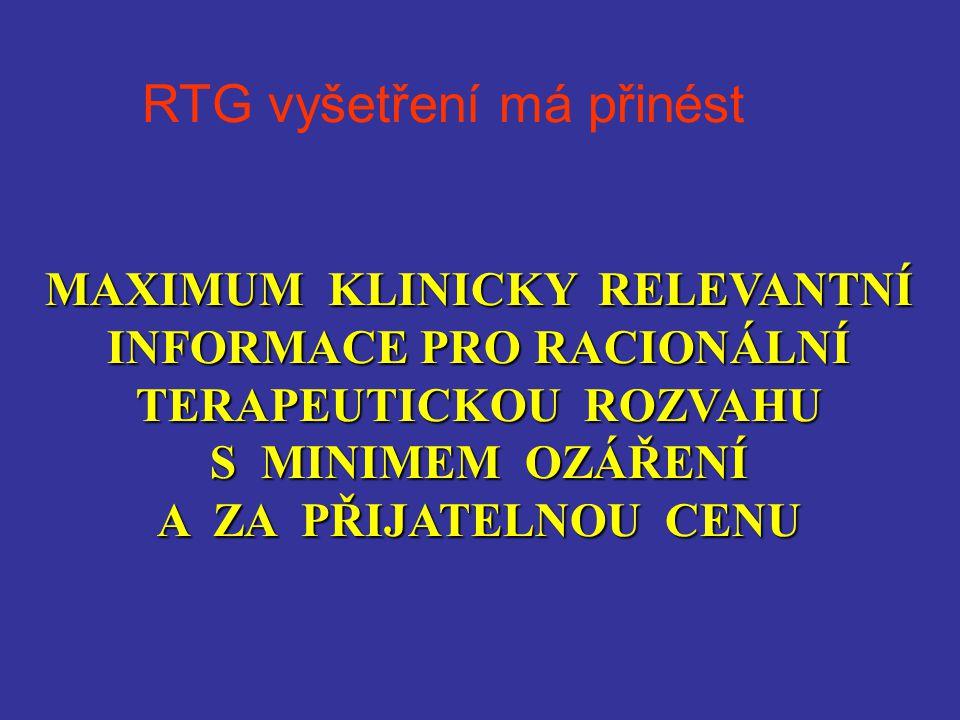 RTG vyšetření má přinést