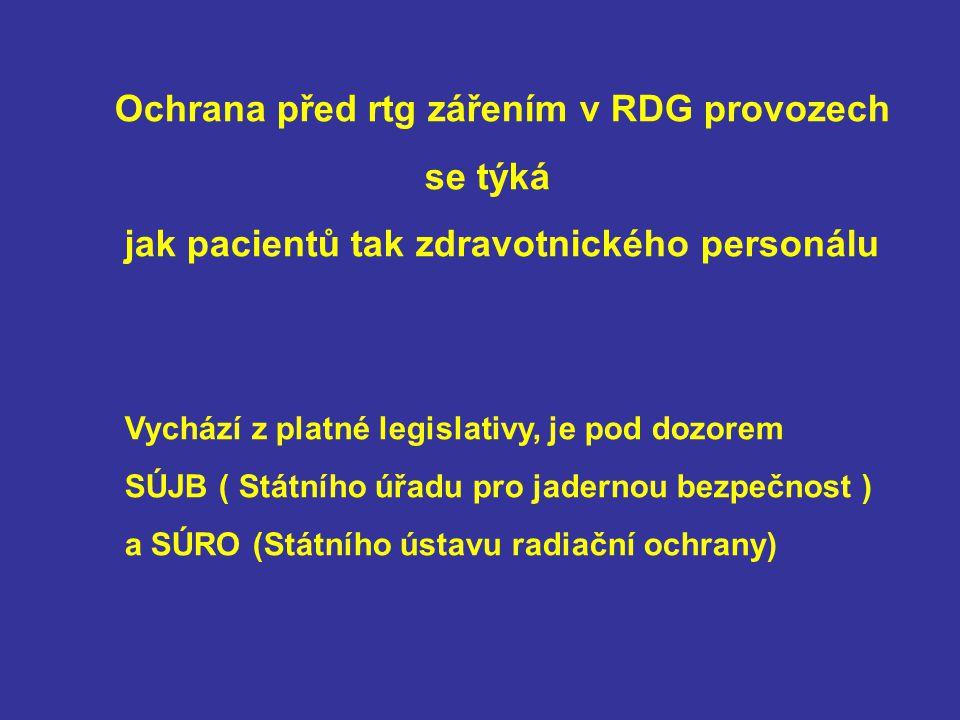 Ochrana před rtg zářením v RDG provozech se týká