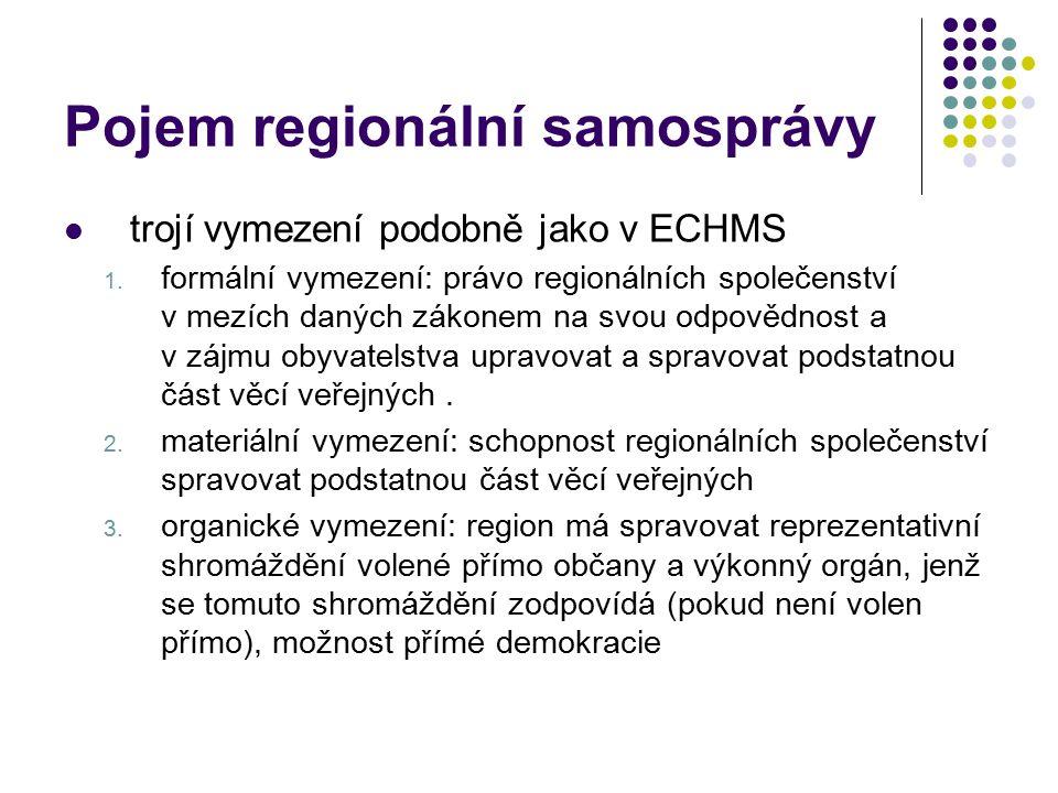 Pojem regionální samosprávy