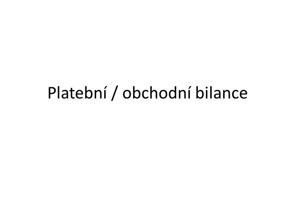 Platební / obchodní bilance