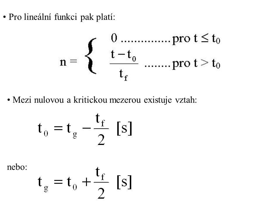 Pro lineální funkci pak platí: