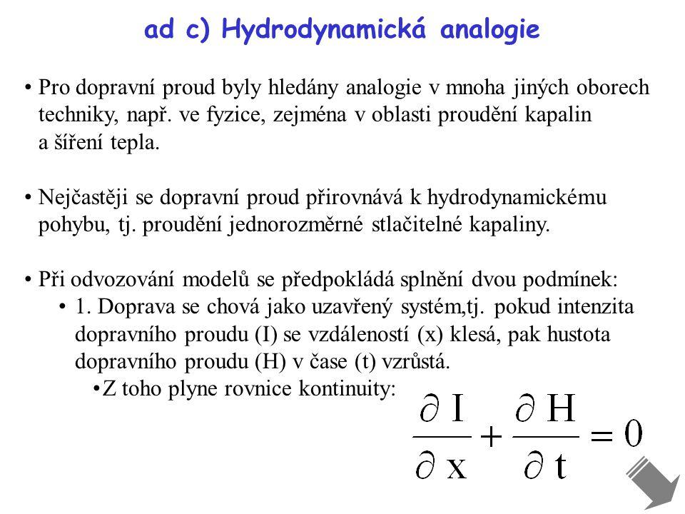 ad c) Hydrodynamická analogie