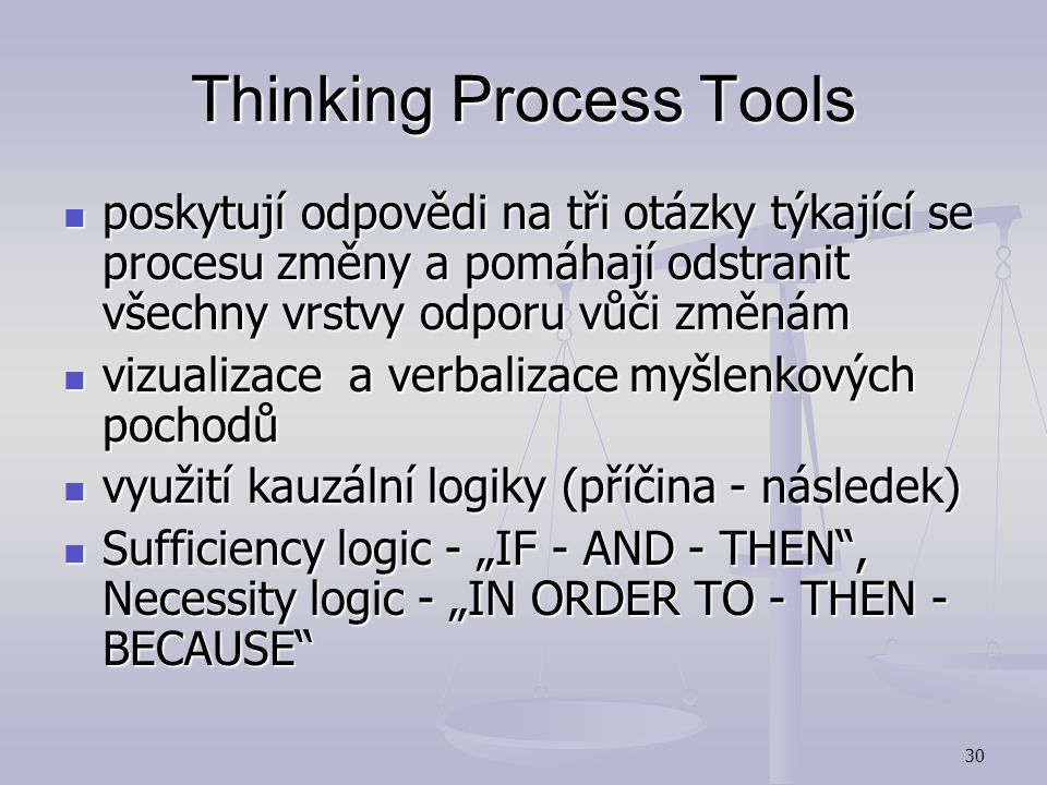 Thinking Process Tools
