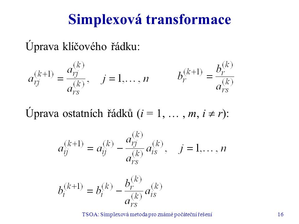 Simplexová transformace