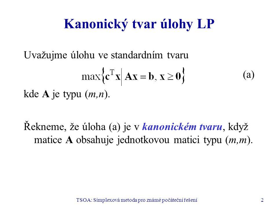 Kanonický tvar úlohy LP