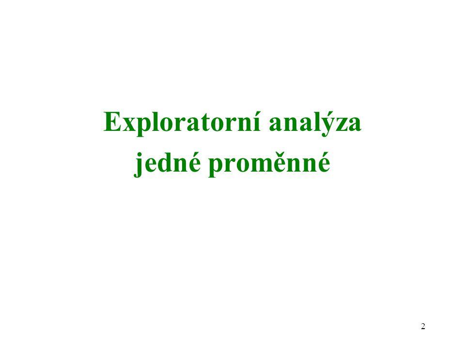 Exploratorní analýza jedné proměnné