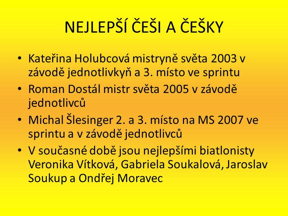 NEJLEPŠÍ ČEŠI A ČEŠKY Kateřina Holubcová mistryně světa 2003 v závodě jednotlivkyň a 3. místo ve sprintu.
