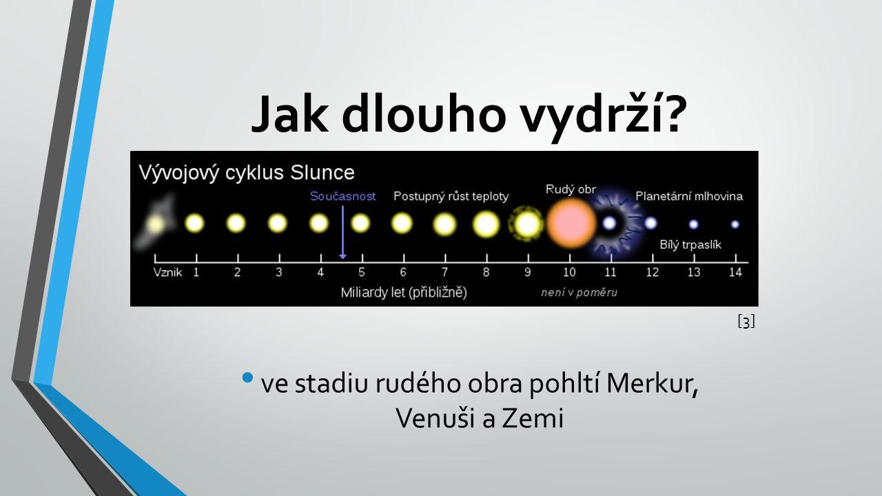 ve stadiu rudého obra pohltí Merkur, Venuši a Zemi