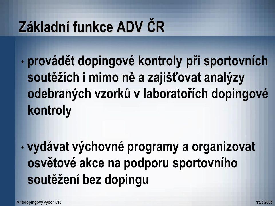 Základní funkce ADV ČR