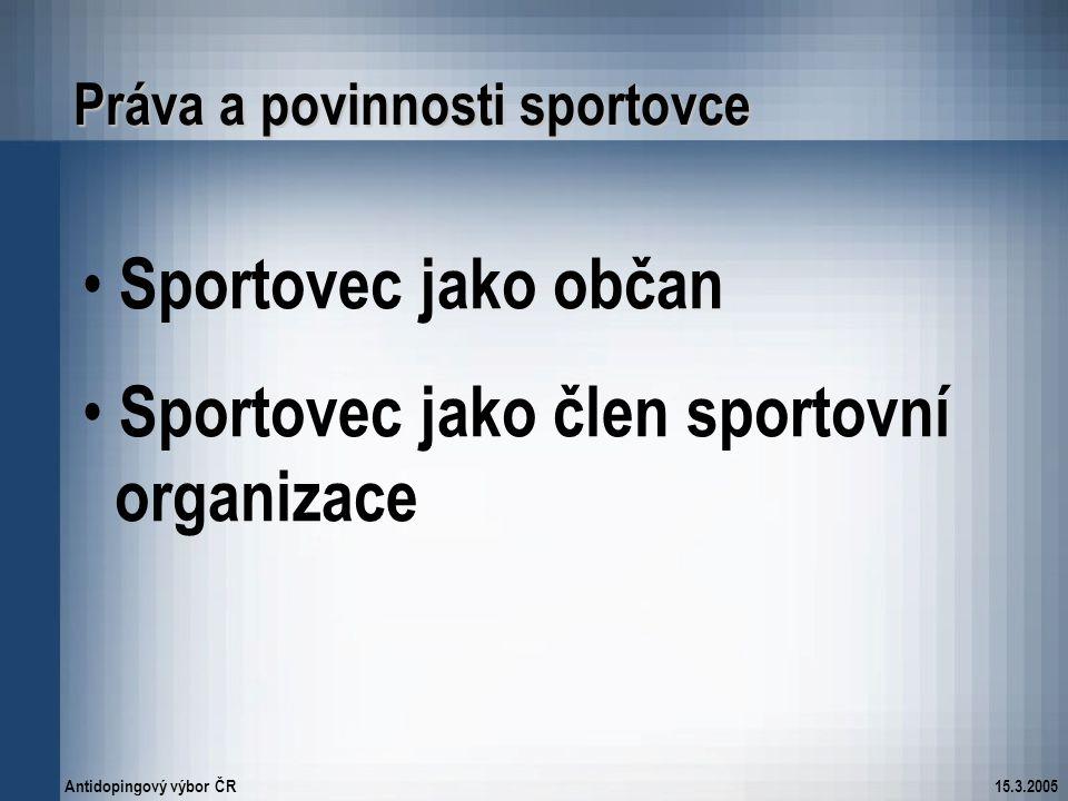 Práva a povinnosti sportovce