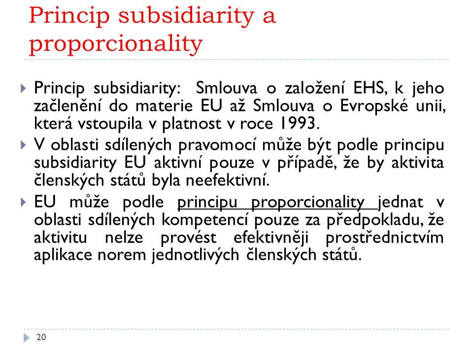 Princip subsidiarity a proporcionality