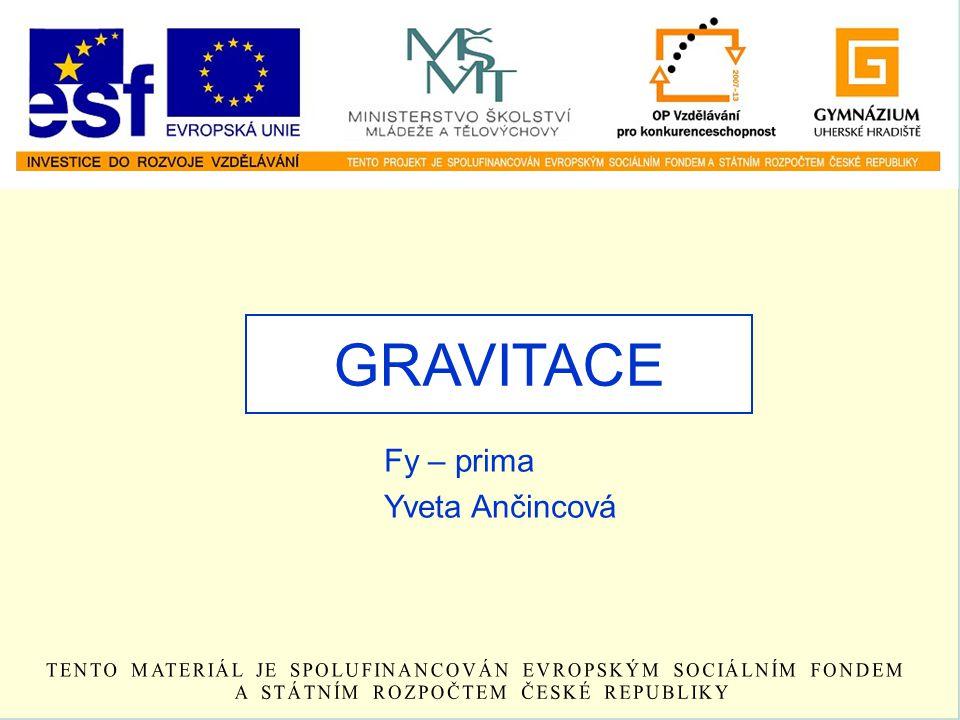 GRAVITACE Fy – prima Yveta Ančincová